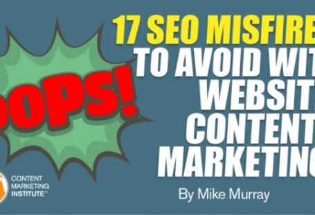 17 اشتباه سئو در بازاریابی محتوای سایت