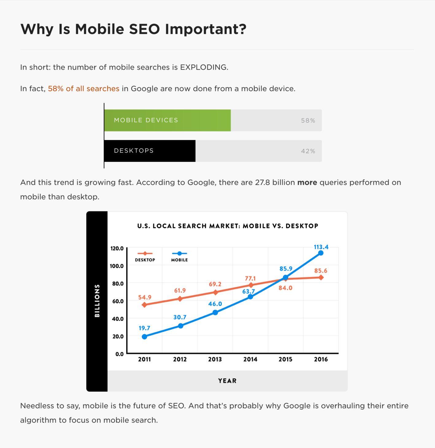 آمار مهم از سئو موبایل